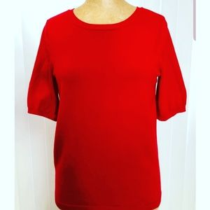 RED LONG 'LIMITED' SWEATER, Size M